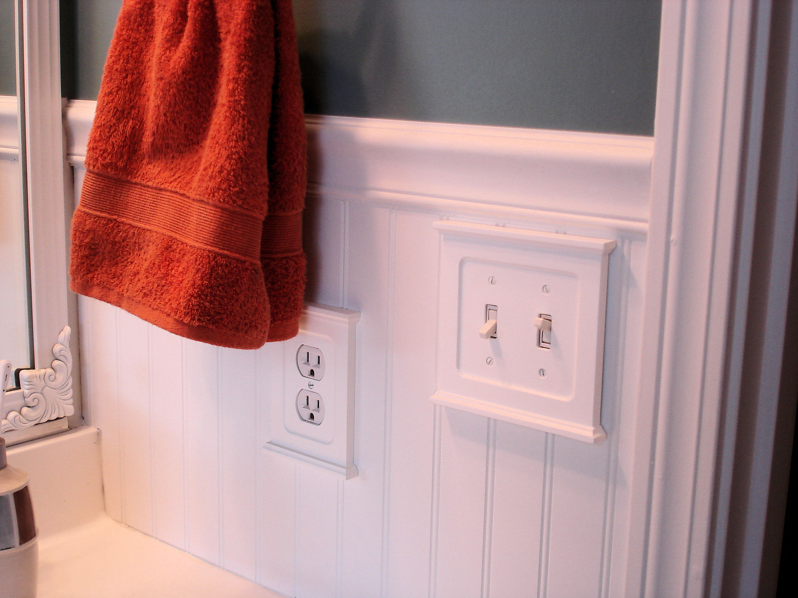 Exceptional Chair Rail Light Switch Part - 4: » Bead Board Bathroom Makeover!