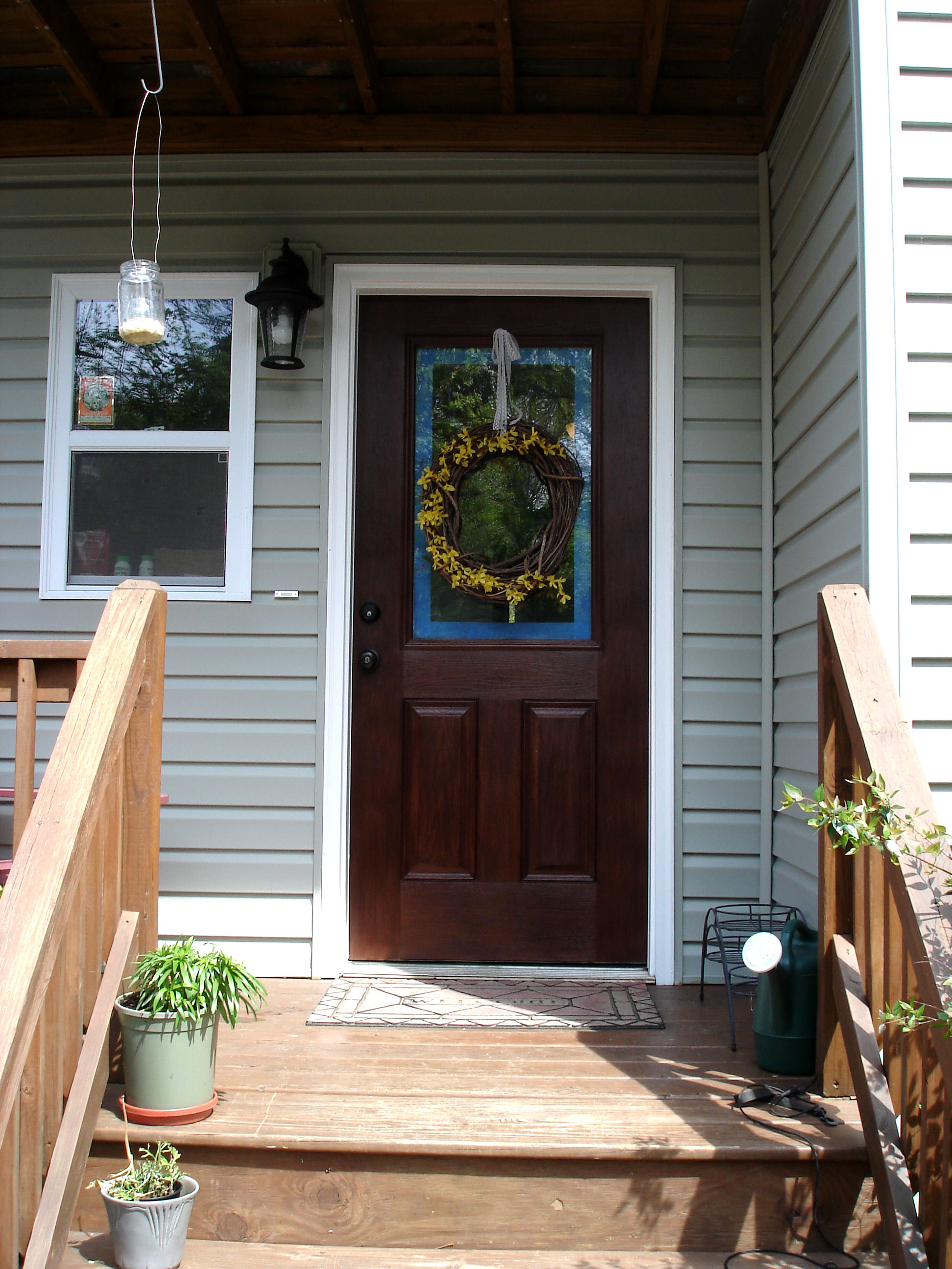 Stainable Fiberglass Entry Doors : Why hello there american walnut