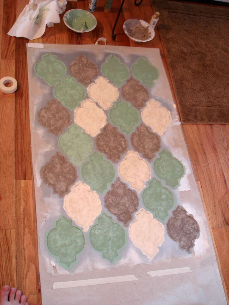 Stenciled Drop Cloth Rug Home Remedies Recipes And Voodoo