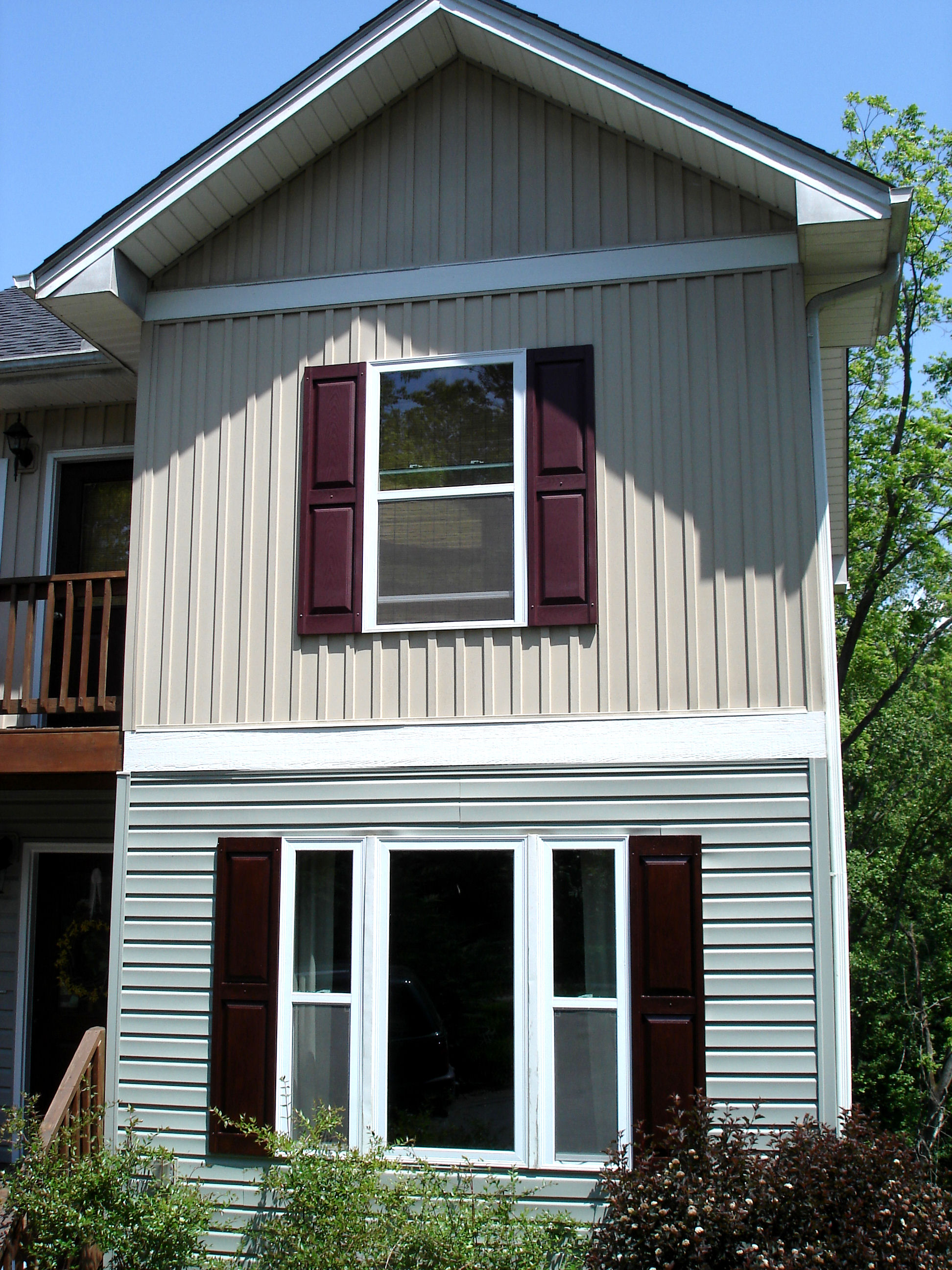 Shutter Island - Stained exterior shutters