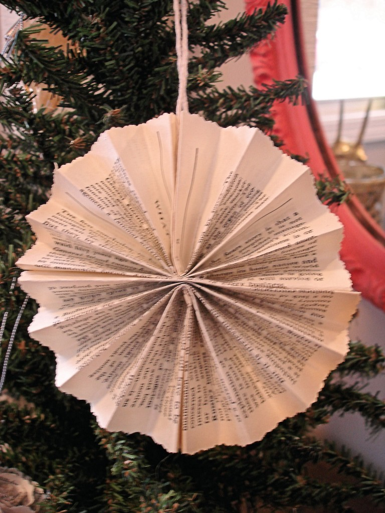 » Book Page Christmas Ornaments